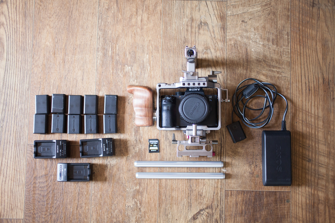 Sony a7S II with tilta cage & accessories