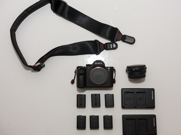 Rent: Sony A7s ii + 6 Batteries + Pro Strap + e to ef Adapter