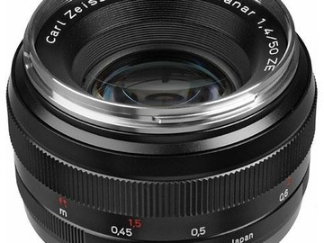 Rent: Zeiss 50mm f/1.4 ZE Planar T* Manual Focus Lens for Canon