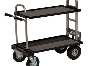 "Rent: Filmtools 24 x 36"" Converted Junior Cart w/ C-stand Holder"