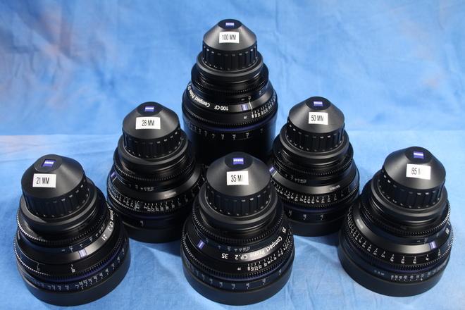 Zeiss CP.2  (21, 28, 35, 50, 85,100) 6-Lens PL mount set