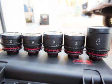 Rent: Zeiss Contax GL Optics  Lens set (28 35 50 85 135) EF Mount