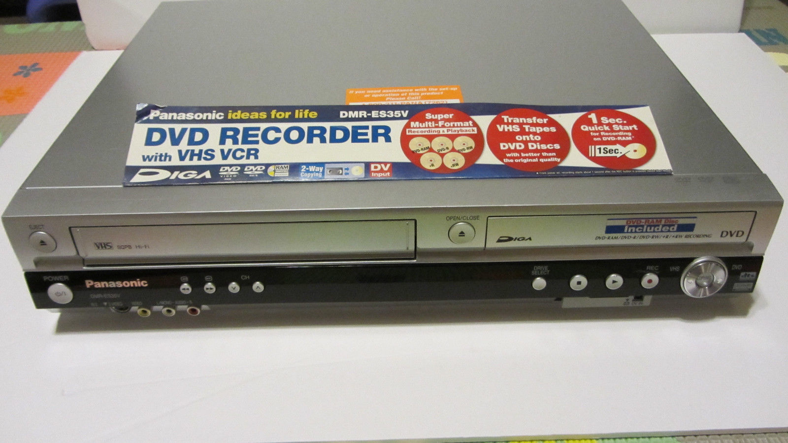 Rent Panasonic DMR-ES35V VHS / DVD Recorder Deck With Firewire ...