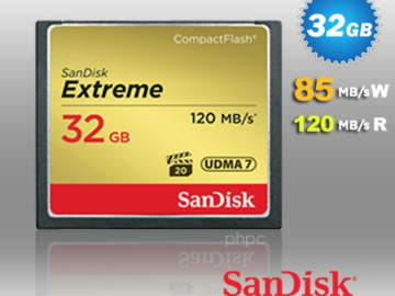 Rent: 5 x SanDisk CF extreme Cards