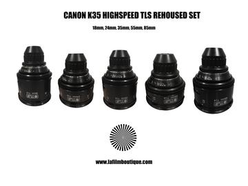 CANON K35 TLS rehoused Highspeed prime lens set