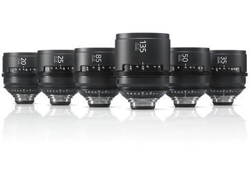 Rent: Sony CineAlta 4K Six Lens Kit PL - T 2.0  RED ARRI CANON BM