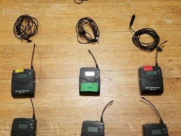 Rent: 3 x Sennheiser ew 100 ENG G3 Wireless Kit