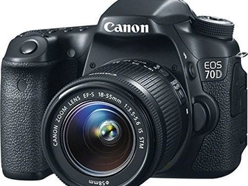 Rent: Canon 70D with kit lens 18-135mm