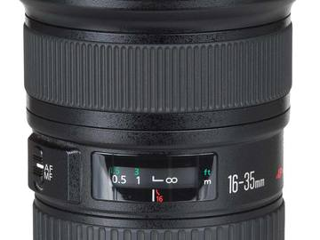 Rent: Canon L series 16-35 F2.8 USM II