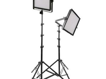 2 x Genaray LED Bi-Color + Dimmable Light Panels + Stands