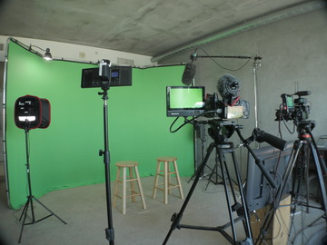 Green and White Screen Studio in Downtown San Diego