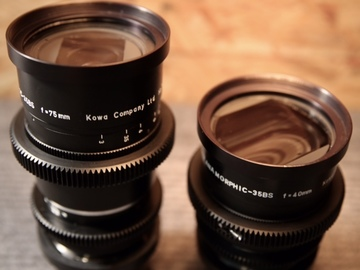 Rent:  Kowa Anamorphic 40mm & 75mm 2 Lens Set