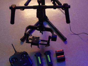 Rent: DJI Ronin-M 3-Axis Handheld Gimbal Stabilizer + 4K Monitor