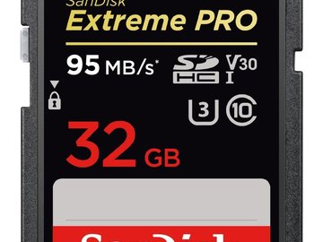 Rent: 3 32GB SD Cards