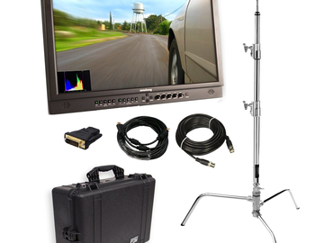 """Rent: Flanders 21.5"""" Client Monitor (w/ Stand, Cables)"""