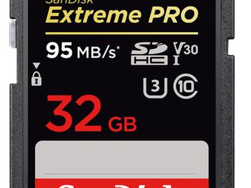 Rent: 4x SanDisk 32gig Extreme Pro