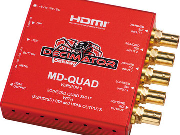Rent: DECIMATOR MD-QUAD 3G/HD/SD-SDI Quad Split