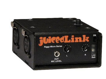 Rent: JuicedLink Riggy-Micro Dual-XLR Preamplifier