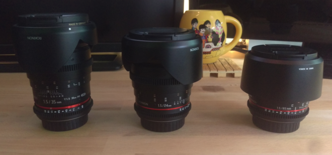 Rokinon T1.5 Cine Lens Set - 24, and 35 EF Mount