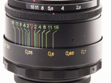 Helios 44-2 58mm lens with EF mount