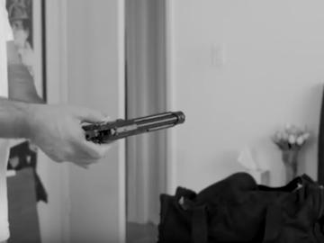 Rent: Black Replica Pistol (barrel is sealed)