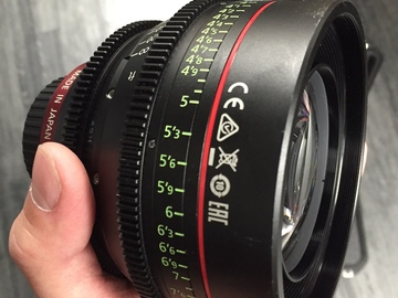 Rent: Canon CN-E Prime Lens Set Kit (14, 24, 35, 50, 85, 135) EF