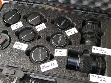Rent: Vintage Set of Pentax-M/A Primes/Zooms 16mm-150mm