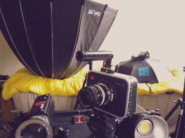 Rent: 2 Bowen Lights +  Cinema Camera + parabolic soft boxes