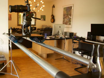 Rent: Dana Dolly w/ 7' speed rails, Manfrotto 501 head, stands