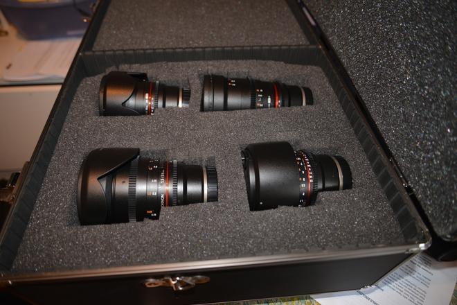 Rokinon Cine DS Lens Kit for Sony E mount + ND Filters