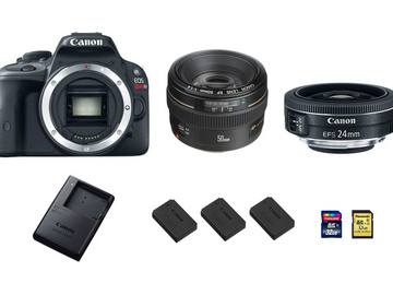 Rent: Canon EOS Rebel SL1 DSLR Camera with Lenses (Package)