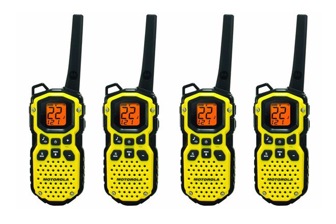 4 x Motorola MS350R Waterproof Walkies w/ Headsets