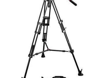 Rent:  Manfrotto 504HD Head w/546B 2 Stage Aluminum Tripod System