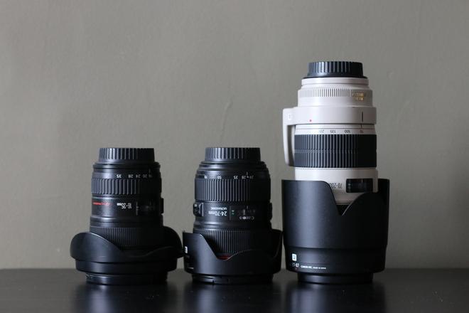 Canon L Series 3 Lens KIT! f 2.8 16-35, 24-70, 70-200!