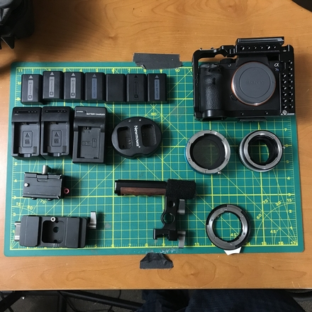 Sony Alpha A7S II Body w/ Movcam Cage, 7 Batteries & Adapter