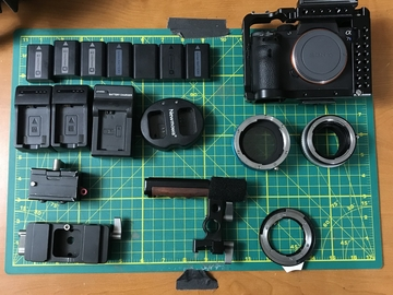 Rent: Sony Alpha A7S II Body w/ Movcam Cage, 7 Batteries & Adapter