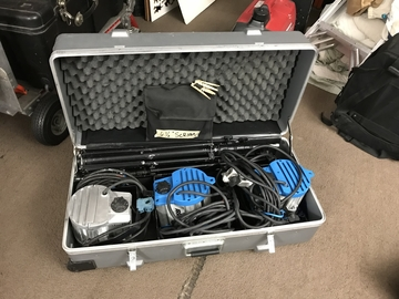 ARRI (3) 650W Fresnel Kit w/ Modifiers & (3) Matthews Stands