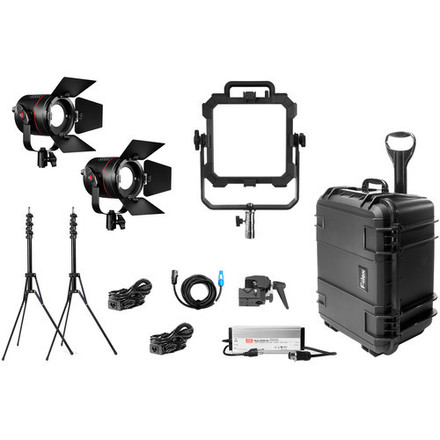 3 Point LED Interview lighting kit + Stands, cables, cases