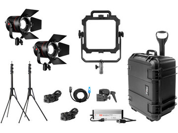 Rent: 3 Point LED Interview lighting kit + Stands, cables, cases
