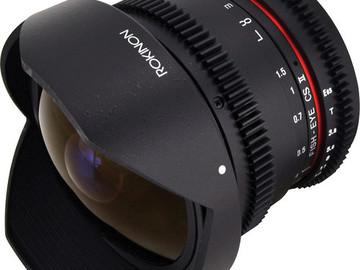 Rent:  Rokinon 8mm T3.8 Fisheye Cine UMC Lens for Canon