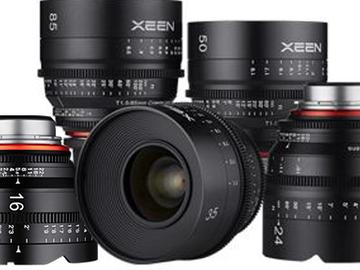 Rent: Rokinon XEEN 5-Lens Set (16, 24, 35, 50, 85) EF Mount