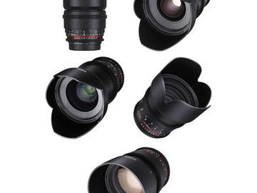Rokinon 14, 24, 35, 50, 85mm T1.5 Cine DS EF Lens Bundle