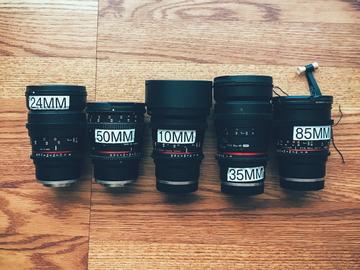 Rent: Rokinon Cine Lens Set Sony E Mount