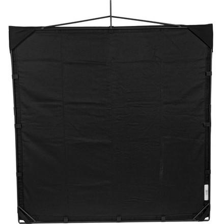 "Matthews RoadFlag Fabric, Solid Black - 48x48"""