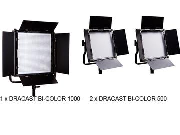 Rent: 1x1 LED BiColor 1000 & 2 x 500 LED BiColor Dracast LIGHT KIT