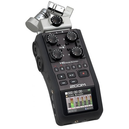 Zoom H6 Recorder with optional HOT SHOE to mount on camera
