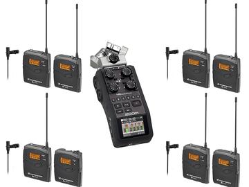 Rent: 4 Sennheiser LAVS & H6 Recorder Combo kit