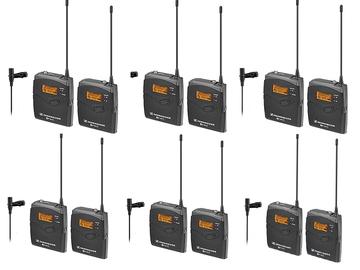 Rent: 6 Sennheiser LAVS ew 112-p ENG G3 Wireless Kit