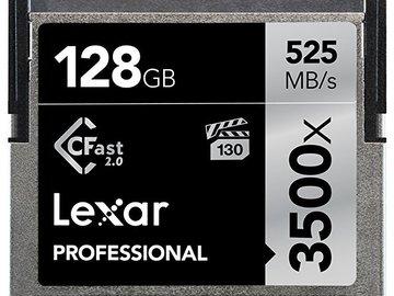 Rent: LEXAR 128GB 525 MB/s 3500X CFAST 2.0