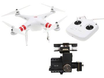 Rent: DJI Phantom Quadcopter w/ Zenmuse H3-2D Gimbal for GoPro4